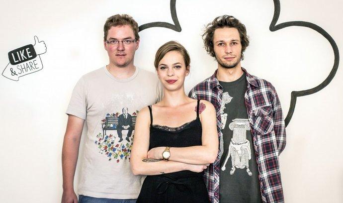 Trio posil v agentuře Bubble. Zleva Matěj Humpál, Michaela Pechanová a Miloslav Nosovský