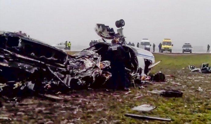 Trosky letounu, ve které zahynul šéf Totalu Christoph de Margerie