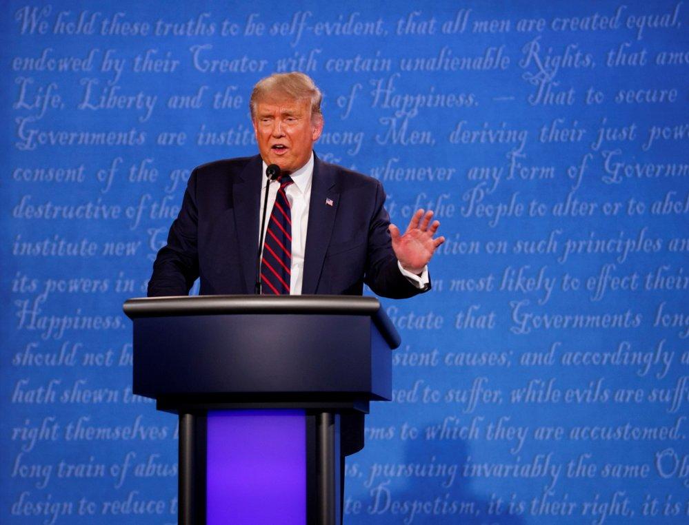 Předvolební debata v USA: Americký prezident Donald Trump (29. 9. 2020)