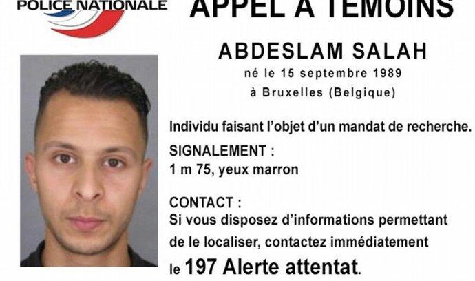 údajný komplic teroristů, bruselský rodák Salah Abdeslam