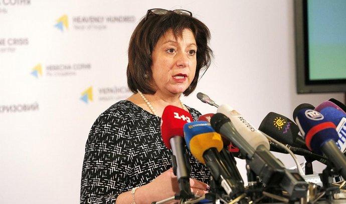 Ukrajinská inistryně financí Natalie Jaresková