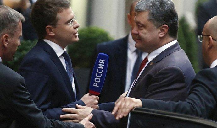 Ukrajinský prezident Petro Porošenko přijíždí na summit v Miláně