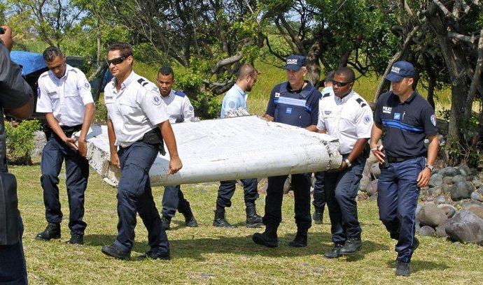 Úlomek letadla nalezený na Réunionu