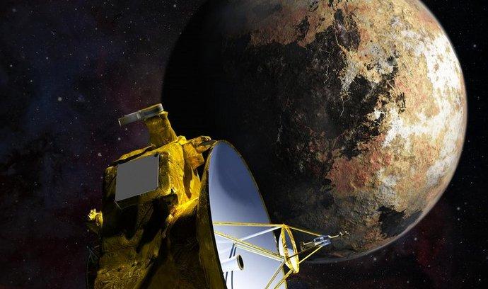 umělcova představivost, New Horizons prolétá kolem Pluta a Charona