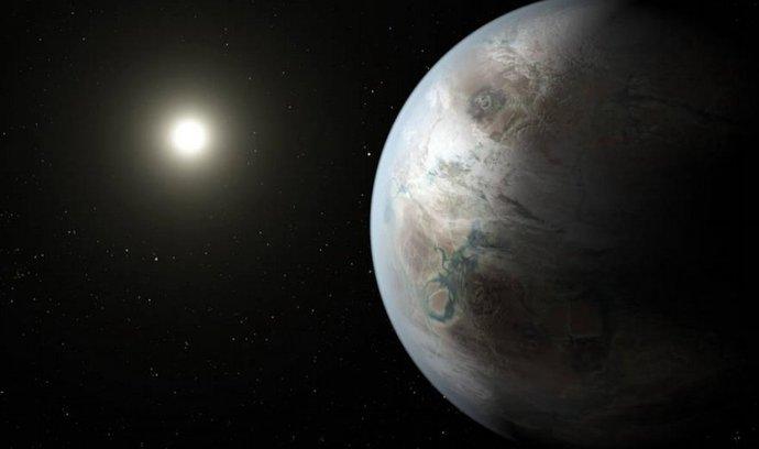 Umělecké ztvárnění nové planety