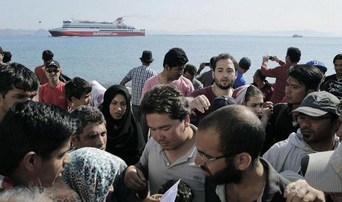 Uprchlíci na řeckém ostrově Kos