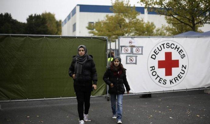 Uprchlický tábor v německém Heidenau