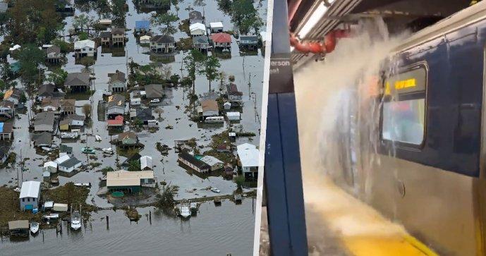 Bleskové záplavy v New Yorku, tornádo v New Jersey: Vichr a velká voda mají nejméně šest obětí