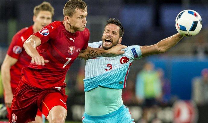 Utkání skupiny D mistrovství Evropy ve fotbale: ČR - Turecko