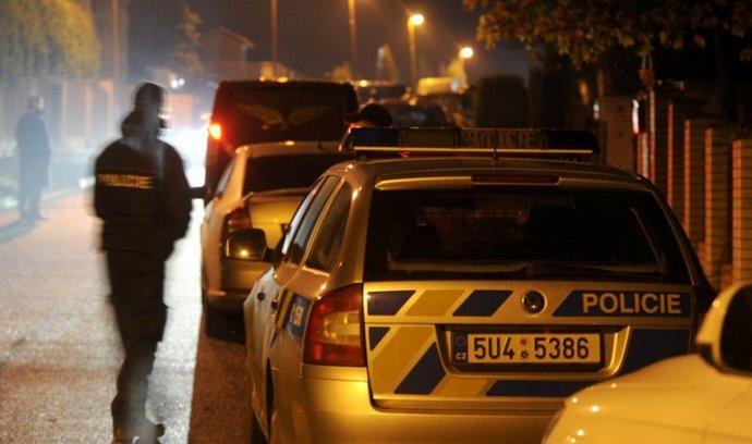 Policie na místě vraždy Romana Housky.