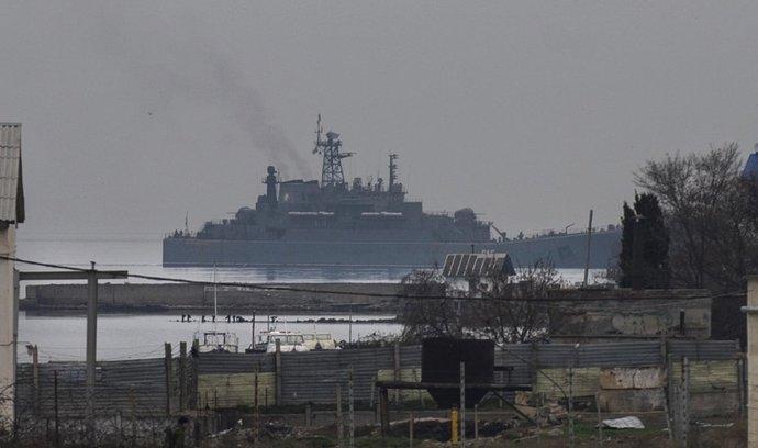 V Sevastopolu kotví ruské válečné lodě
