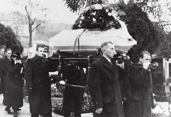 Pohřeb Václava Sedláčka proběhl na branickém hřbitově 4. listopadu 1939