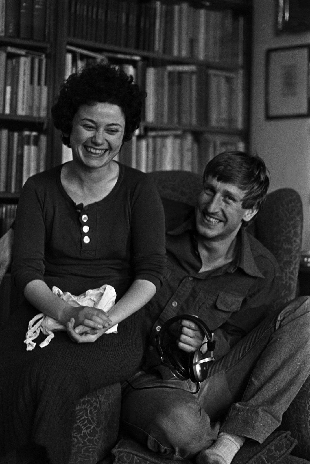 Foto z roku 1984: Tehdy spolu Vydra a Boušková byli půl roku.