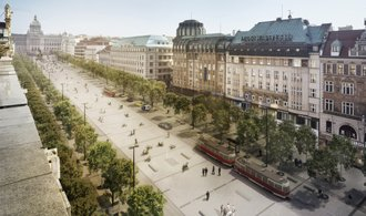 The reconstruction of Wenceslas Square will take several months.  Prague solves trees and trams