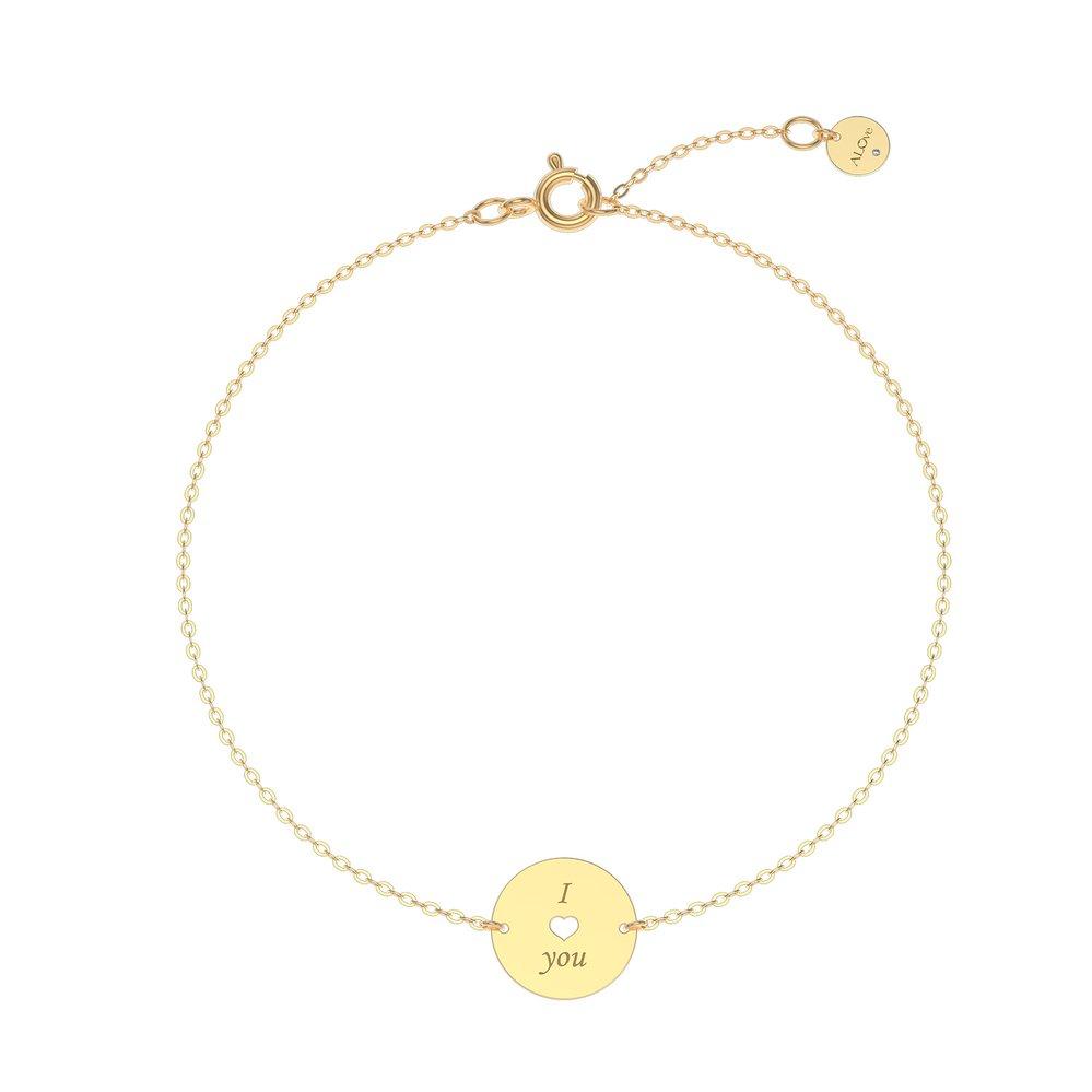 Náramek ze žlutého zlata s diamantem, ALOve, prodává alove.cz, 5790 Kč