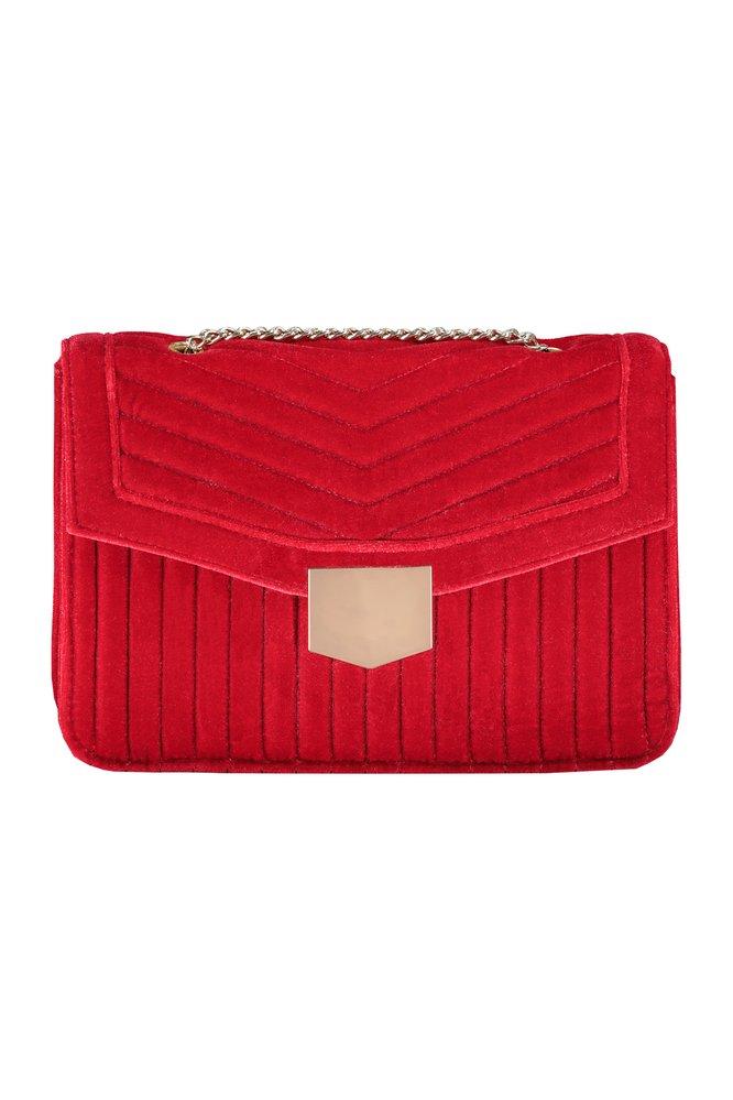 Sametová kabelka s řetízkem, FF, 499 Kč
