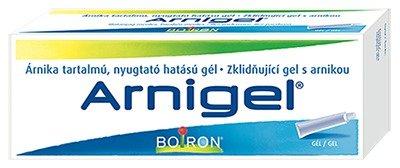 ARNIGEL se zklidňujícími účinky na jakékoliv poranění, Boiron. K dostání v lékárnách, cca 110 Kč.
