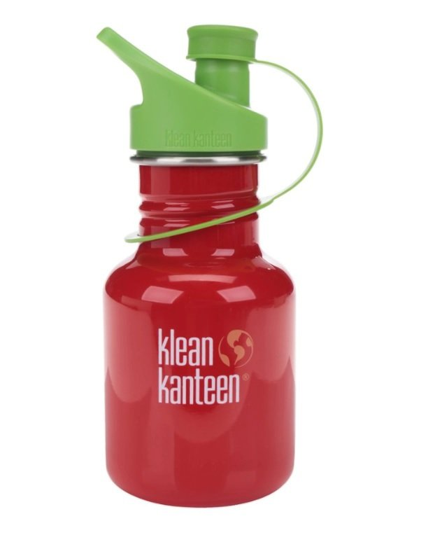 Červená dětská nerezová lahev Klean Kanteen Kid Classic Sport, 355 ml, www.zoot.cz, 549 Kč