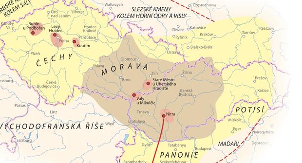 Český historický atlas: Kudy vedla železnice vroce 1850 a kde vládl Karel IV.?