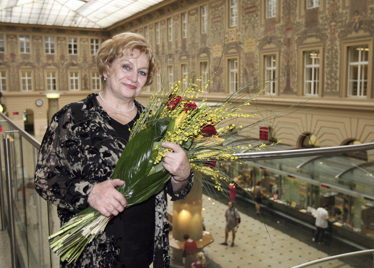 Věra Čáslavská v roce 2012.