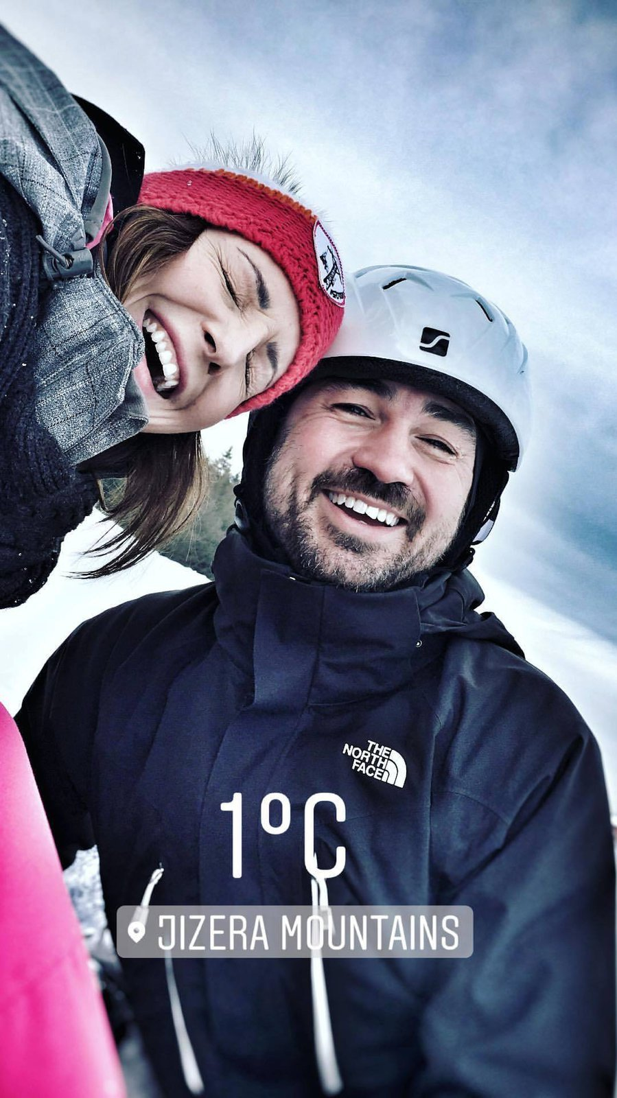 Veronika Arichteva s manželem Biserem na horách
