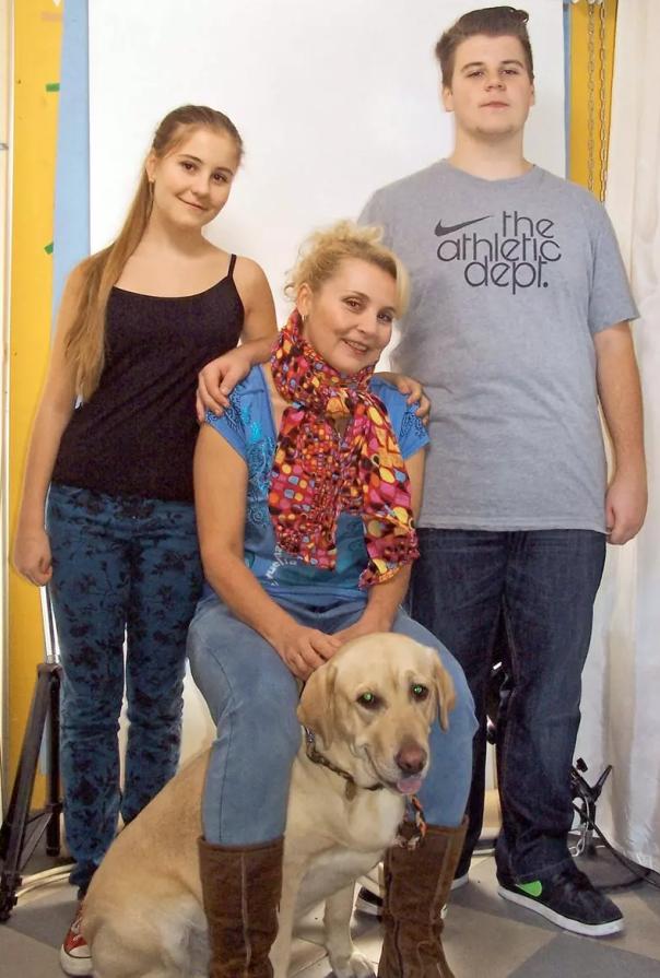 S dcerou Eliškou a synem Kryštofem v době, kdy jim vyhrožovali únosem.