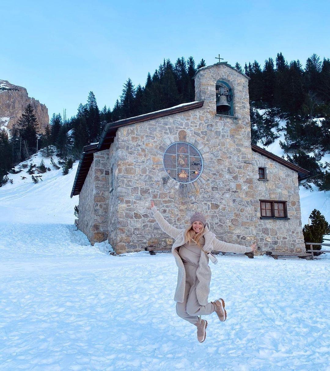 Veronika Kopřivová obdivovala zasněžené krásy Lichtenštejsnka.