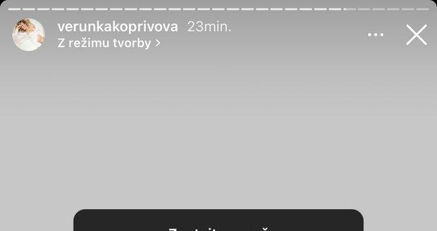 Veronika Kopřivová promluvila o stěhování.