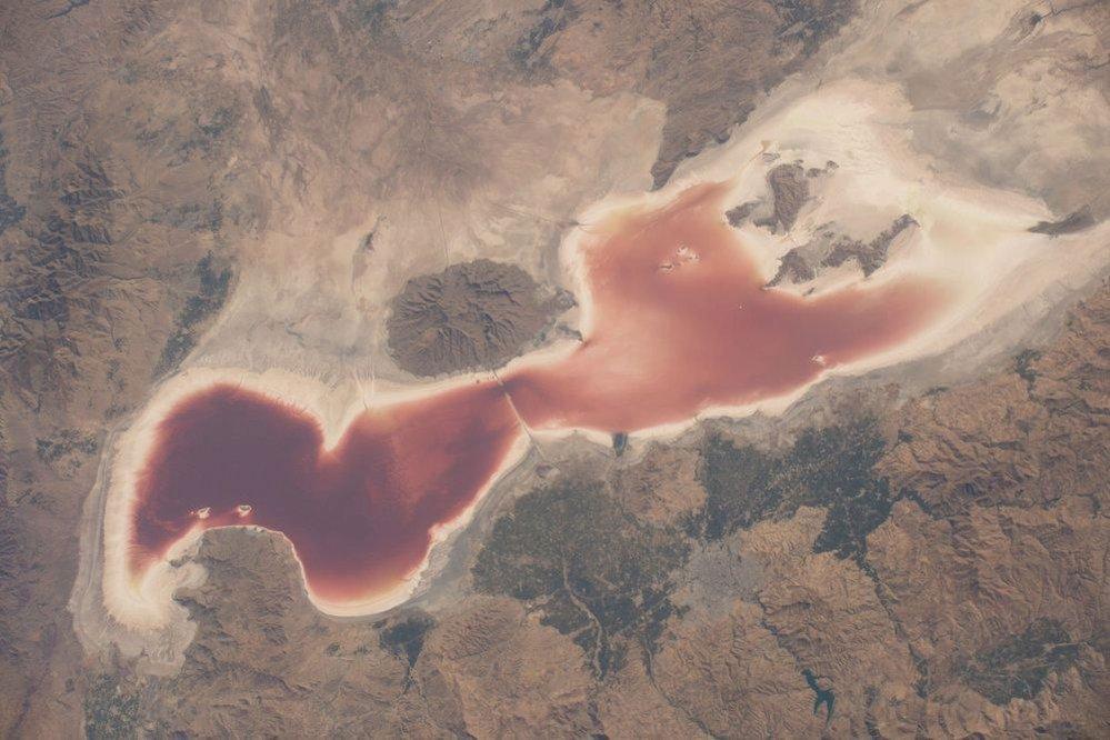 Urmijské jezero, severozápadní Írán