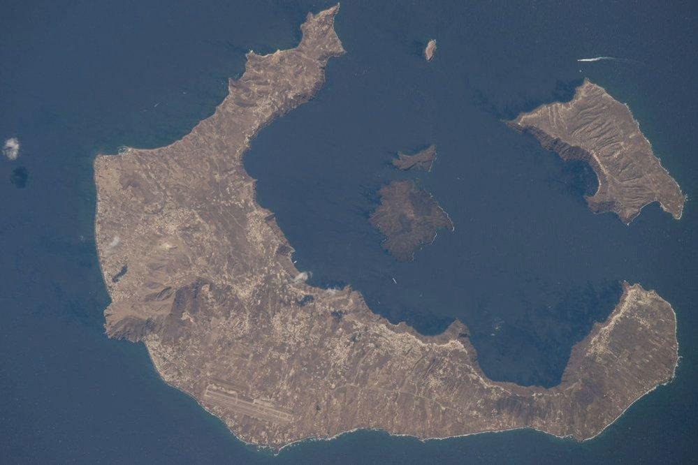 Sopečné ostrůvky v Řecku