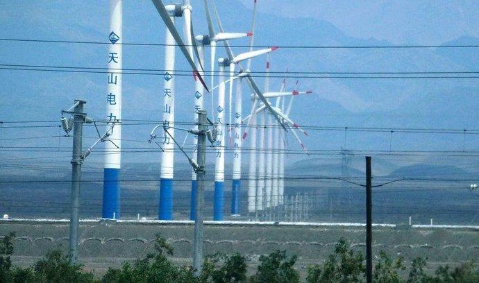 Větrný park v Číně