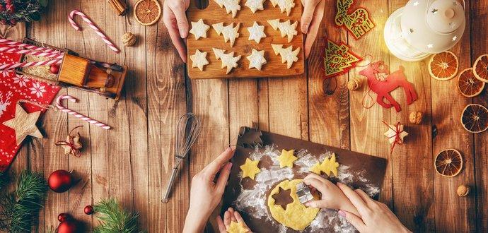 Veľký plán vianočného pečenia