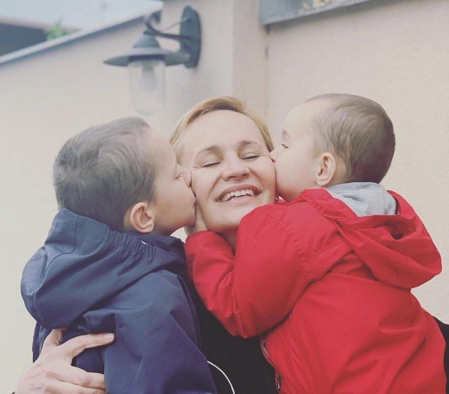 Monika Absolonová s dětmi