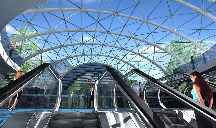 Vizualizace nové stanice metro D
