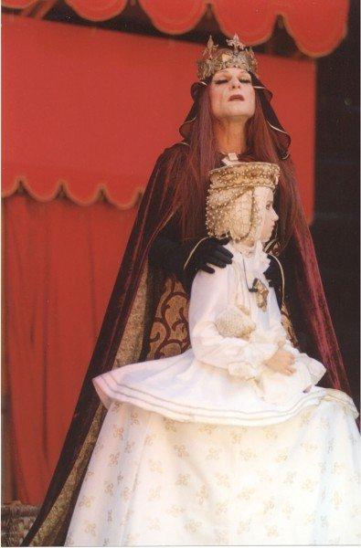 Vladimír Marek (†69) jako královna Alžběta v shakespearovském Richardu III.