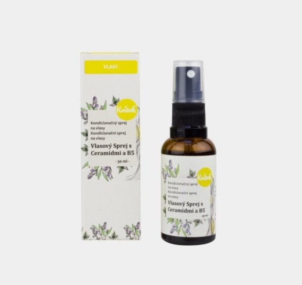 Vlasový sprej s ceramidy a vitaminem B5, Kvitok, zemito.cz, 209 Kč