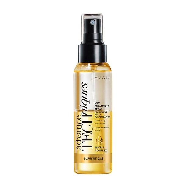 Intenzivní vyživující duální sprej s luxusními oleji pro všechny typy vlasů, AVON, nyní 99 Kč
