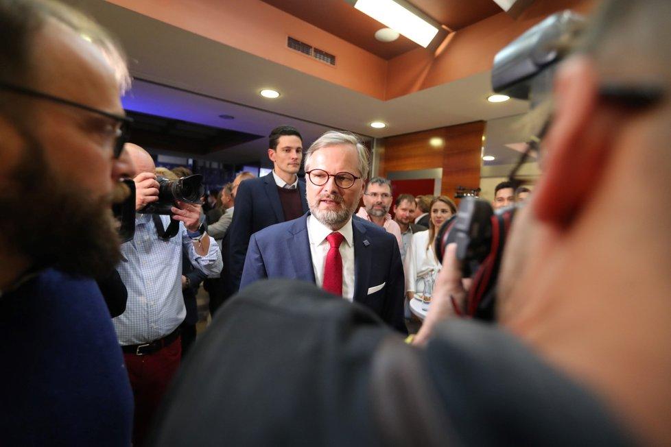 Petr Fiala, lídr vítězné koalice Spolu (9. 10. 2021)