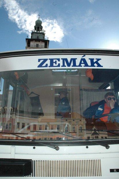 Volby ČSSD , Miloš Zeman, Zemák, Vyškov, autobus