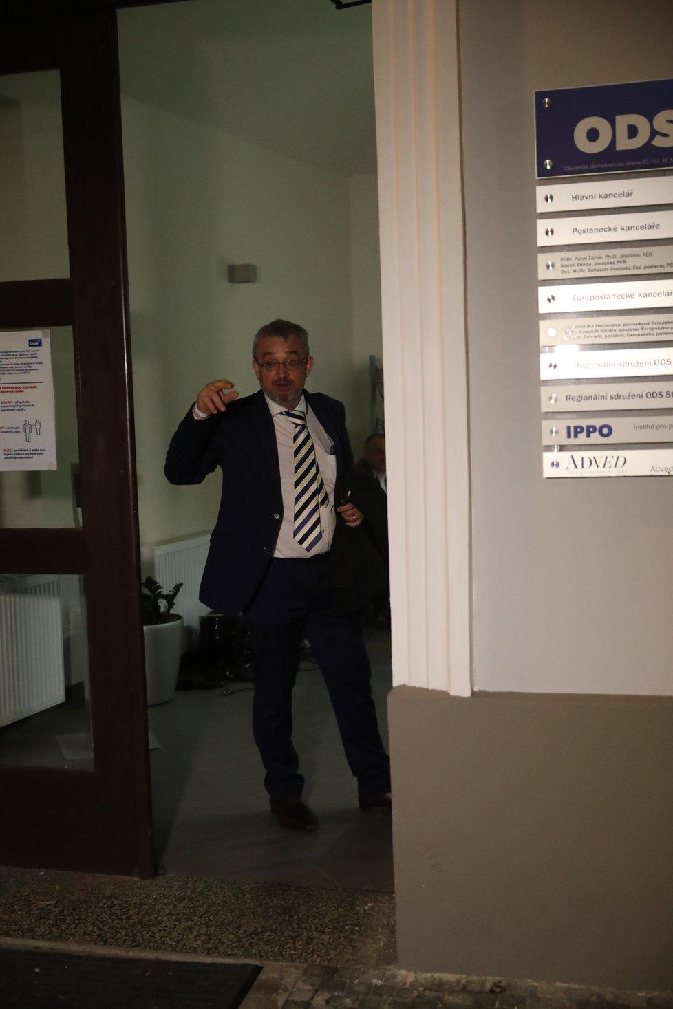 Koalice Spolu slavila vítězství ve volbách: Marek Benda (ODS) (9.10.2021)