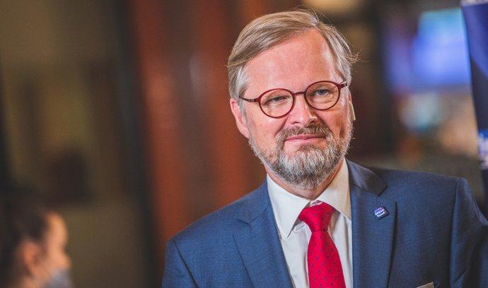 Kandidát na premiéra, šéf ODS Petr Fiala