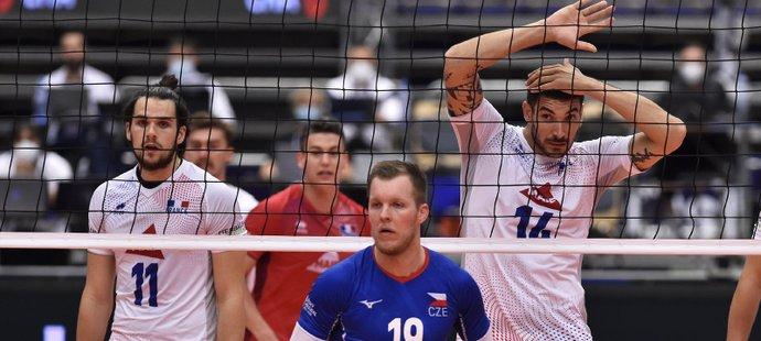 Francouzští volejbalisté překvapivě končí už v osmifinále po porážce s českou reprezentací