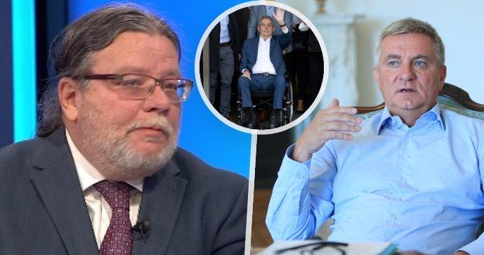 Debata o zdraví prezidenta: Alexandr Vondra (ODS), Miloš Zeman a kancléř Vratislav Mynář