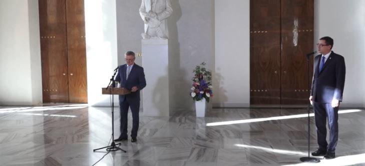 Brífink kancléře Vratislava Mynáře ke zdraví prezidenta Miloše Zemana (18.10.2021)