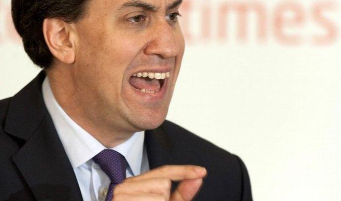 Vůdce britských labouristů Ed Miliband