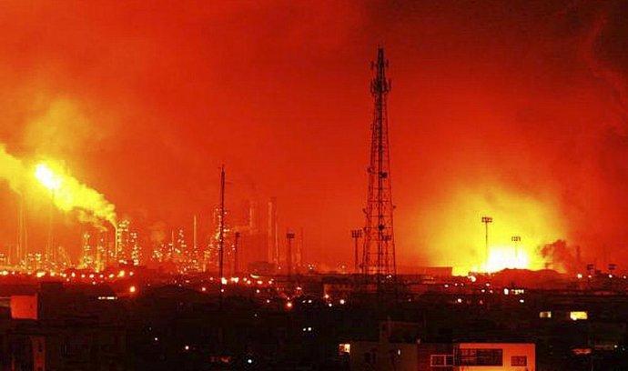 Výbuch v největší venezuelské rafinerii Amuay