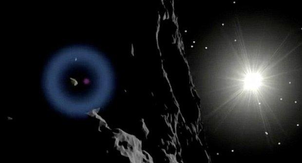 Východ slunce nad kometou: Tomu se říká RO-MAN-TIKA!