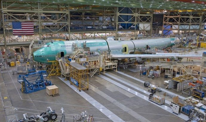 Výroba Boeingu 747-8