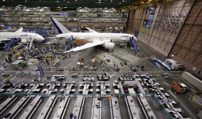 Výroba nového Boeingu Dreamliner
