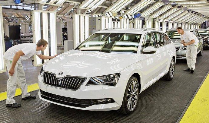 Výroba vozu Škoda Superb